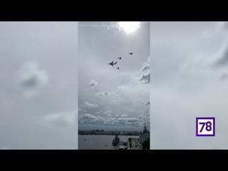 Тренировка морской авиации ко Дню ВМФ