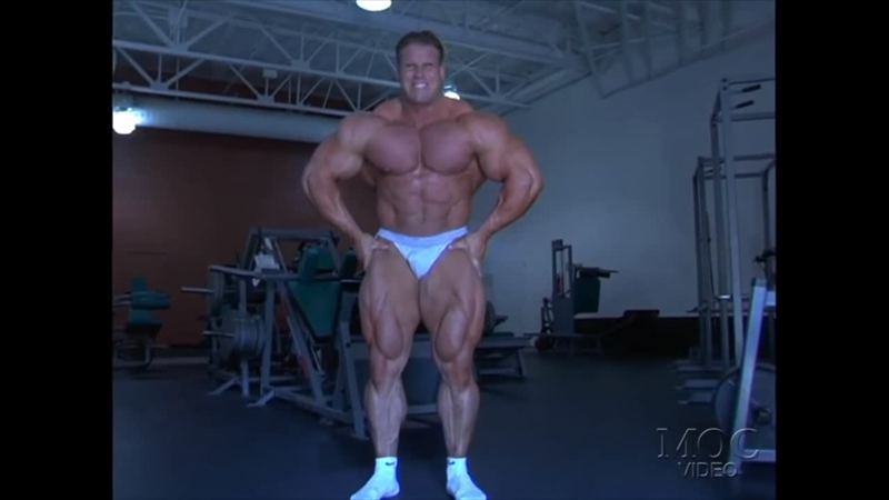 Jay Cutler Trains Back Posing 2003
