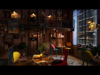[Cozy Rain] Drink your Coffee on this Coffee Shop Ambience with Relaxing Jazz Music