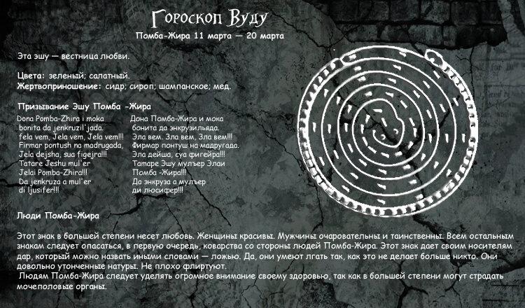 Уникальный гороскоп вуду UUGkgaTLKcw