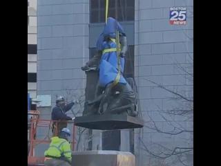 Демонтаж памятника Линкольну