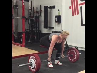 Алисса Смит - тяга 180 кг на 6