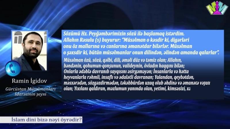 İslam dini bizə nəyi öyrədir (sorğu)