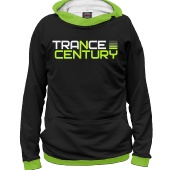 Мужское худи Trance Century Radio / Black-Green