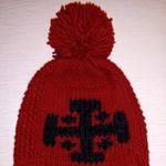 Шапка Holyrus Иерусалимский Крест красная