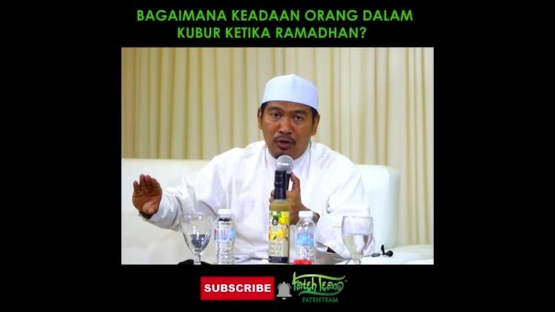 Bagaimana keadan orang dlm kubur ketika Ramadan