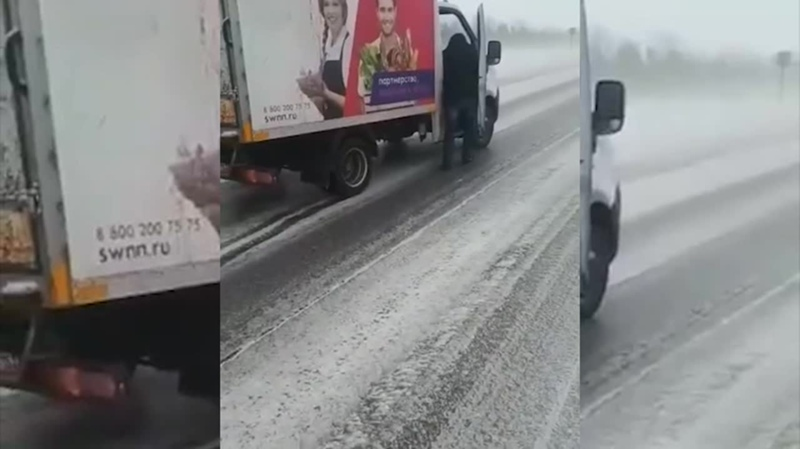 В Татарстане автомобилисты пережили сильнейшую метель