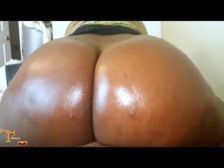 45 Big Black Butt POV  BBW Anal porno