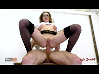 Mia Bandini Hot teacher seduces her student fucking her ass to