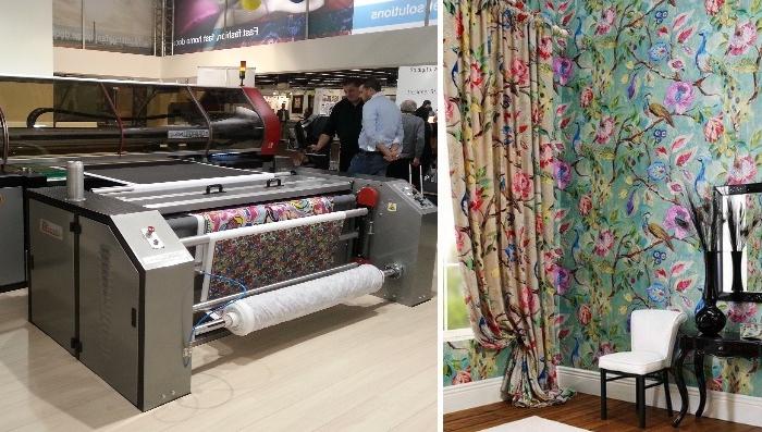 Интерьерная широкоформатная печать на ткани