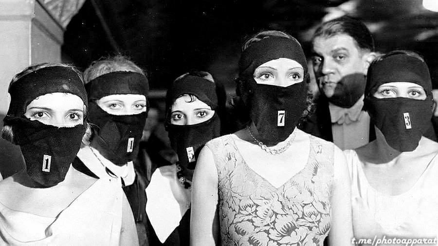 """Участницы конкурса красоты """"Мисс красивые глаза"""", Париж, 1930 6743"""