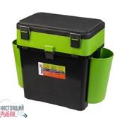 Ящик зимний Helios FishBox 2 секции Тонар (Зеленый, 19 л)