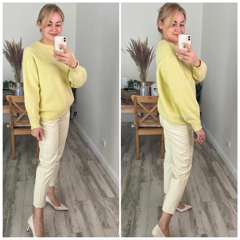 Лимонный 🍋 тёплый свитер