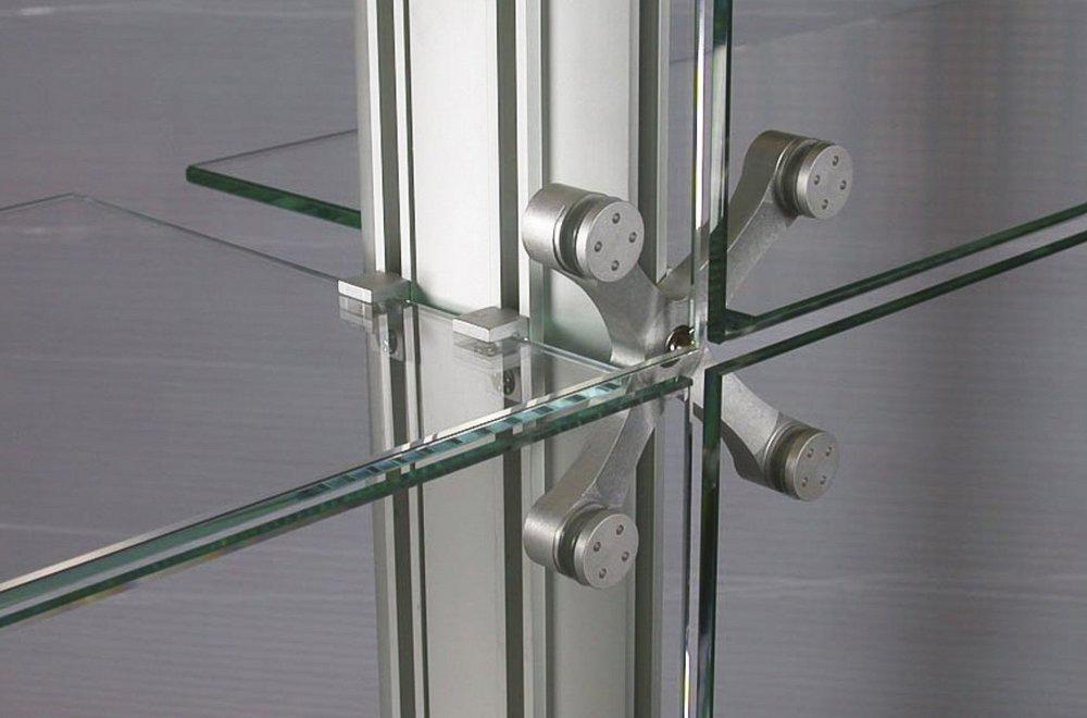 Зажимы и коннекторы для стекла