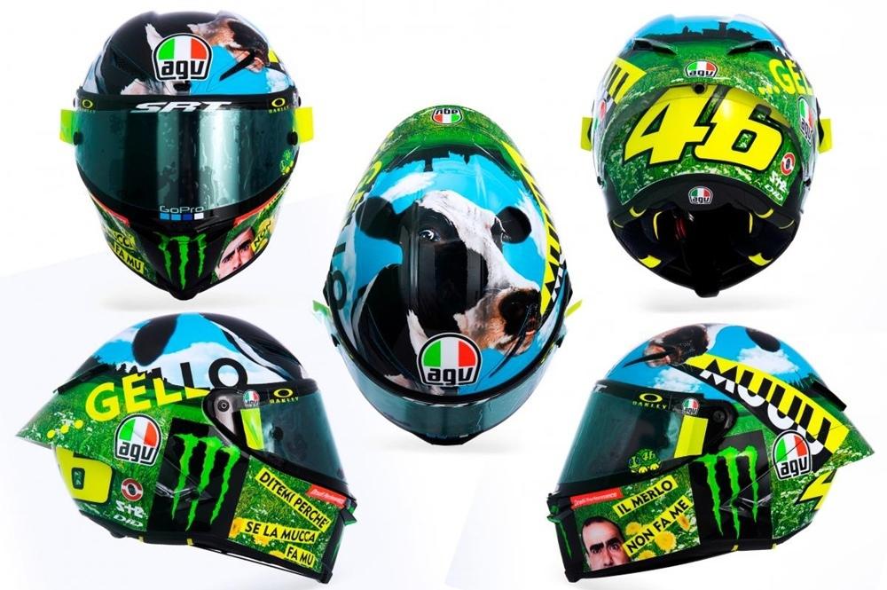 Шлем Валентино Росси к Гран При Муджелло 2021