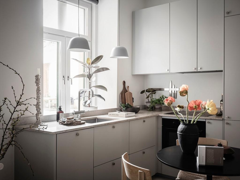 Интерьер скандинавской квартиры-студия 28 кв.