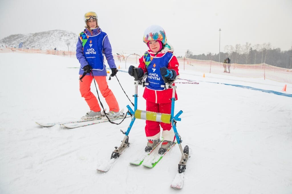 В Удмуртии прошли соревнования по адаптивному горнолыжному
