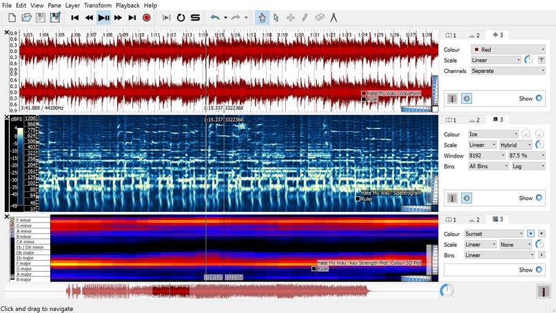 Sonic Visualiser Автоматический определитель аккордов в песне, изображение №1