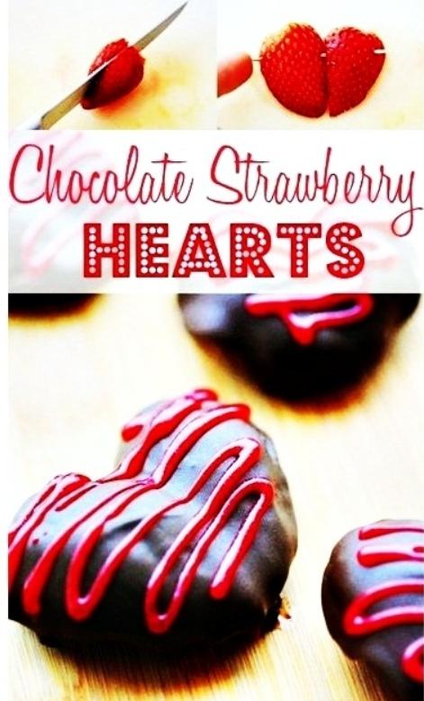 Шоколадно-клубничные сердечки
