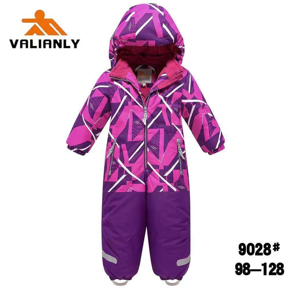 Зимний комбинезон Valianly 9028 фиолет