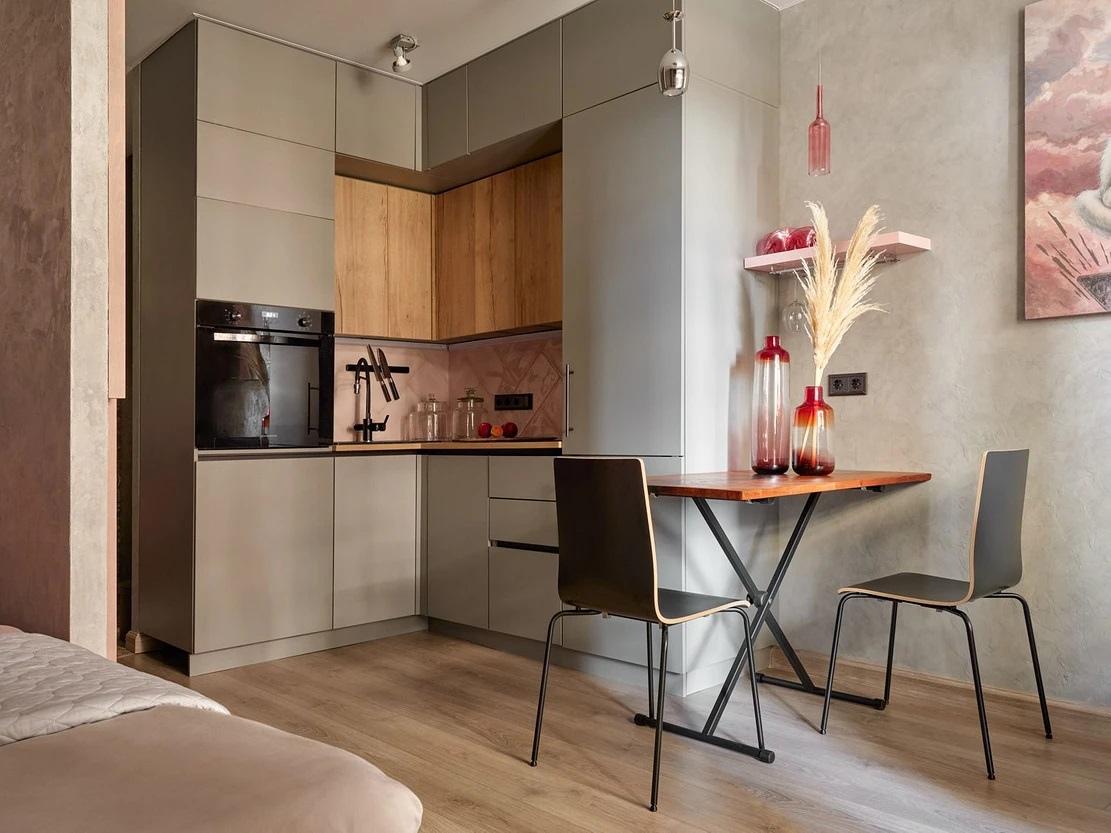 Интерьер квартиры-студии 24,5 кв.