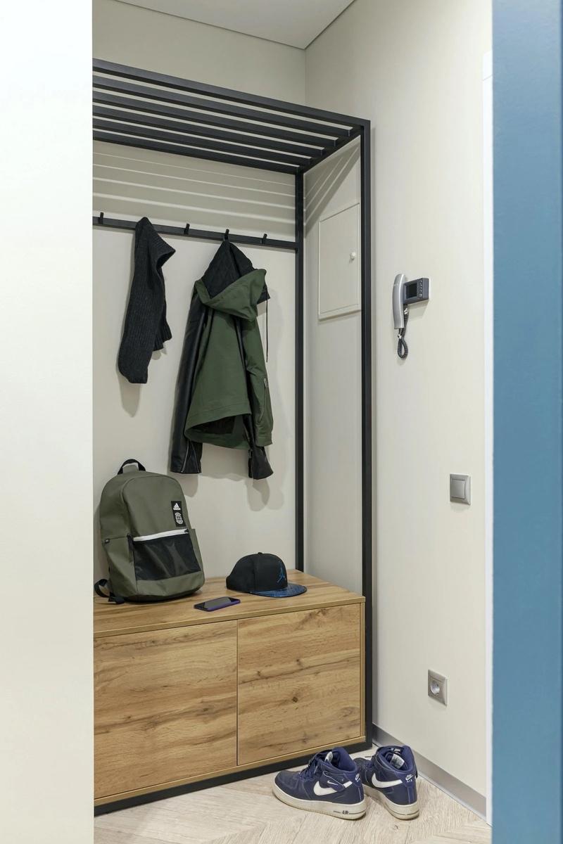 Перепланировка типовой однокомнатной квартиры 45 кв.