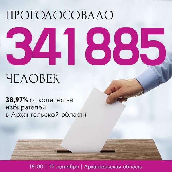 За два часа до окончания выборов в Архангельской о...
