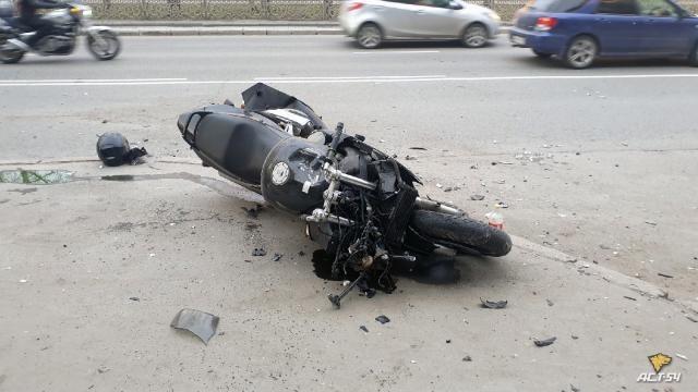Мото авария в Новосибирске (видео)