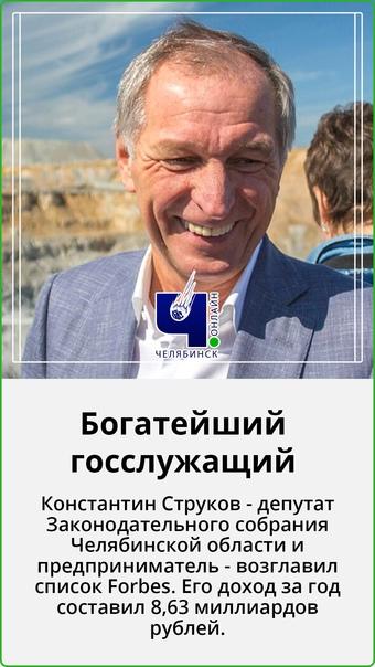 """????Челябинский госслужащий на первом месте в списке Forbes  ⠀  Недавно Forbes опубликовали рейтинг """"10 госслужащих... [читать продолжение]"""