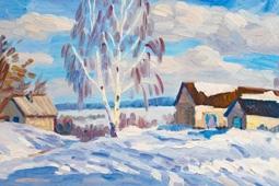 Русская зима в представлении самодеятельных художников