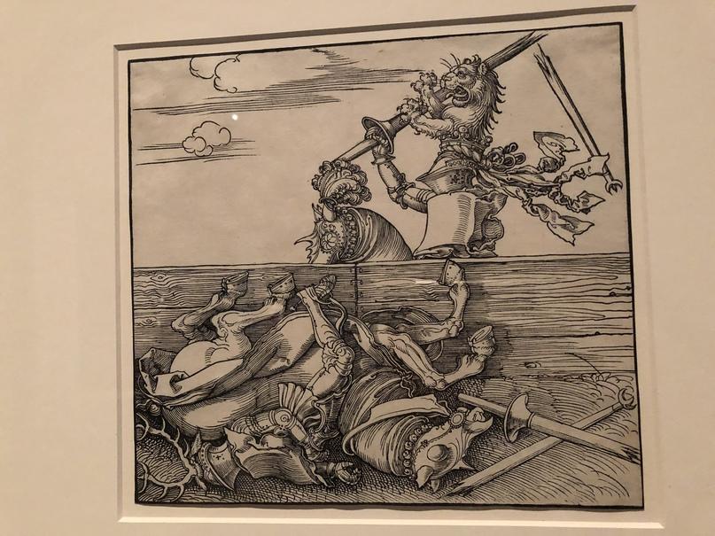 «Фрейдал» выигрывает турнир мира у Якоба де Хере (Ксилография Альбрехта Дюрера)