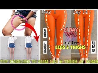Top Exercise for girls   Get slim THIGHS & LEGS at Home   Bài tập đùi và chân thon gọn ngay tại nhà