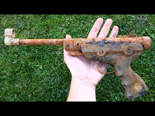 Very Rusty Ancient Airgun Restoration