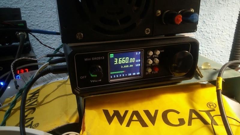 Трансивер Mini SW2013 QSO UR5YW UA3ZIA R2ZBR Приём эфира на 80 м