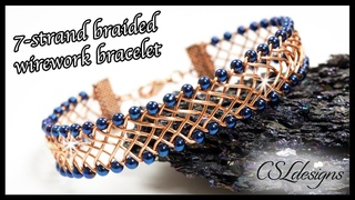 7 strand braid wirework bracelet