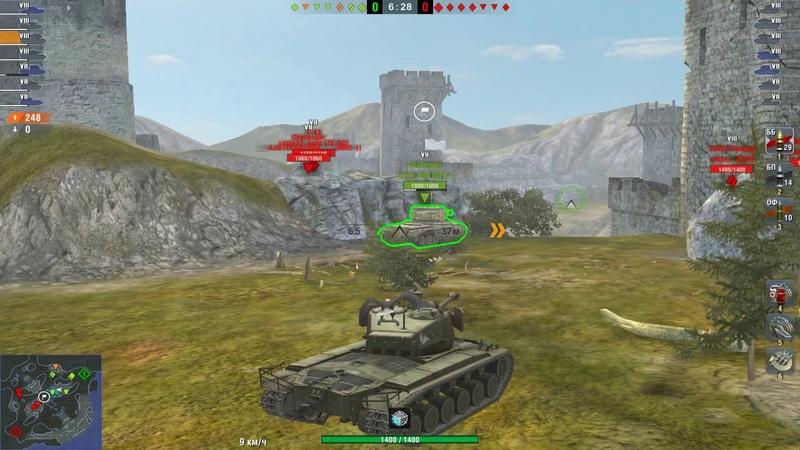 Wot blitz Супер АМХ СDC М6А2Е1 7ур Т26Е4 маневренность скорострельность броня отличные руки