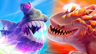 Супер Акулы в Хангри Шарк Эволюшн #6 Обновление. Мистер Кусака, Годкулла и Акула-молот на крутилкины