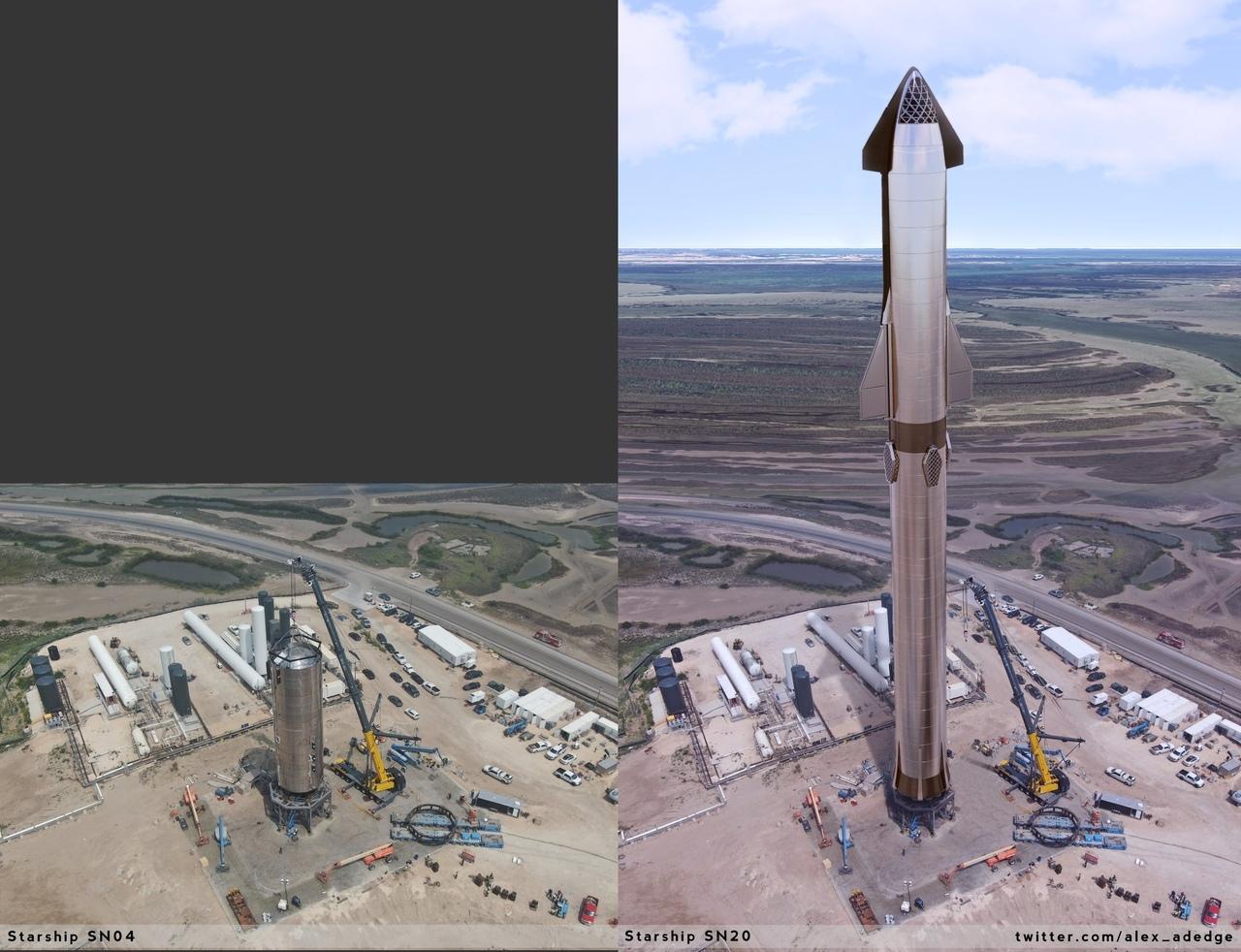 сравнение четвертого бака и размеров будущего корабля
