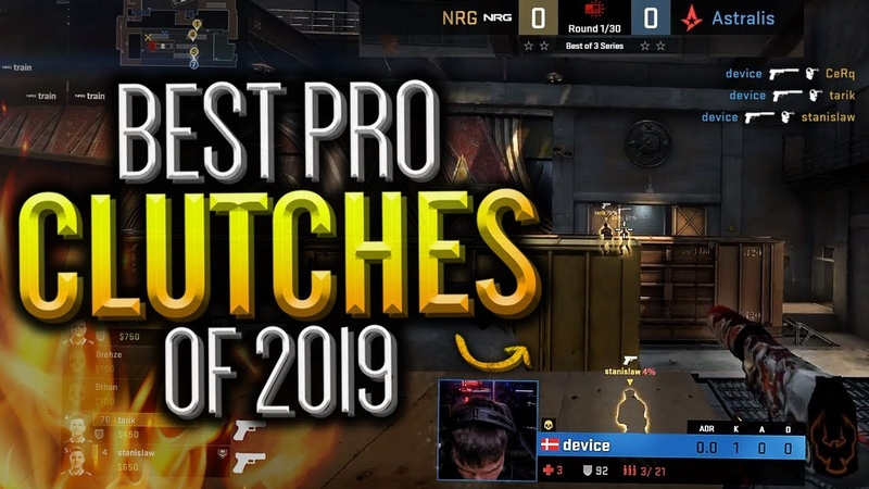 THE BEST PRO CLUTCHES OF 2019! (SICK PLAYS) - CS:GO