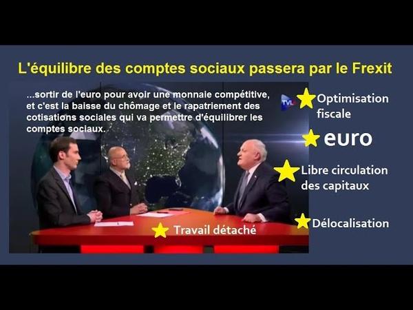 Asselineau dénonce les causes qui font que les retraites et la sécurité sociale soient en déficit
