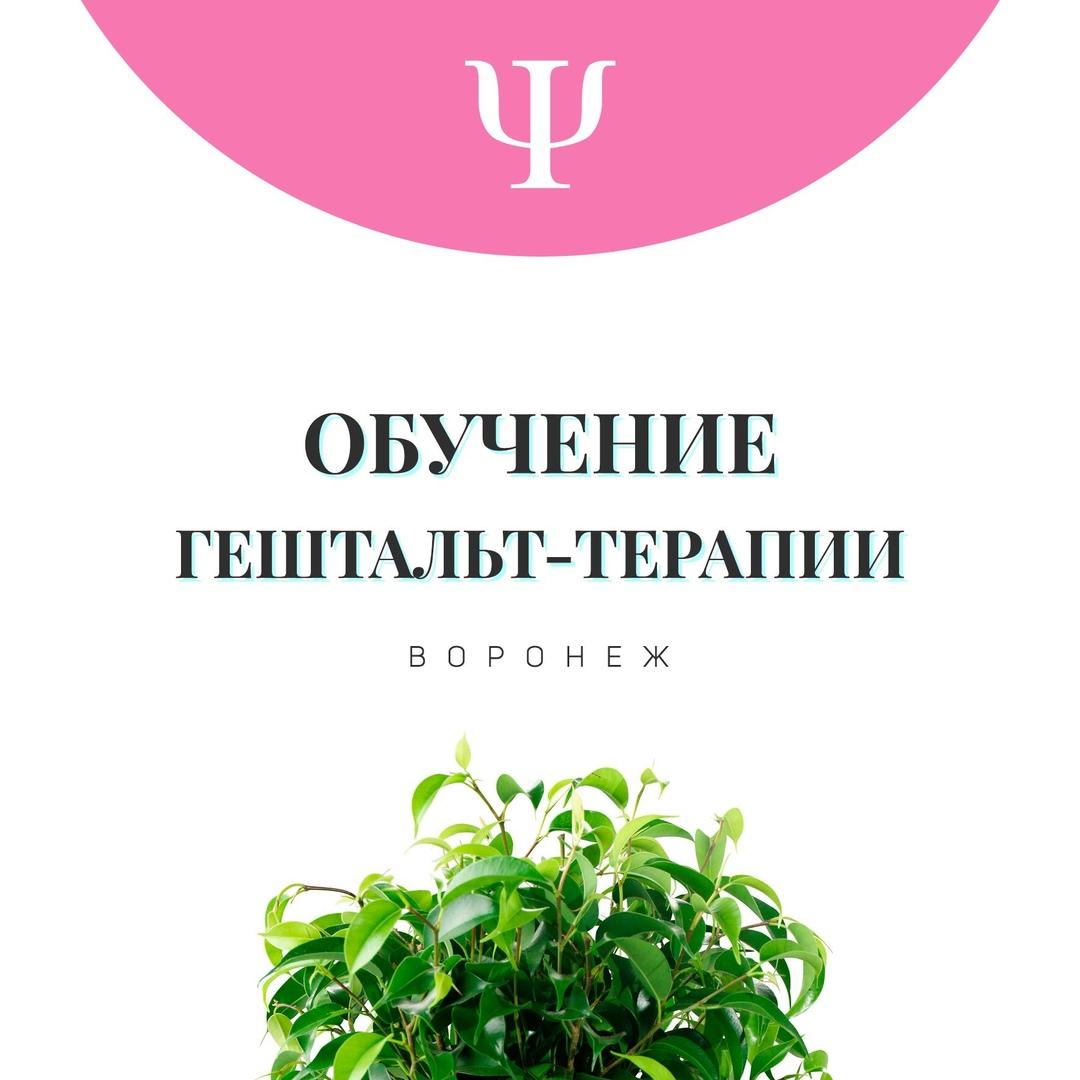 Афиша Воронеж Обучение гештальт-терапии