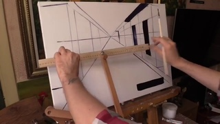 Большой художественный муштабель для живописи и графики