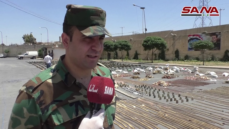 ضبط أسلحة وذخائر متنوعة من مخلفات الإرهابيين في المنطقة الجنوبية