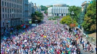 350000 верующих на Великом крестном ходе 2021: вид с воздуха