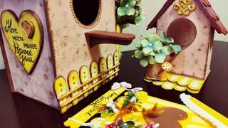 Весенние поделки - декоративные скворечники. 3 МК + РОЗЫГРЫШ 🎁