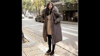 2020 зимнее пальто для женщин с большим меховым воротником с капюшоном длинная куртка толстая теплая корейская стеганая парка