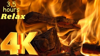 4K 🔥🔥🔥 Fascinating fire💯👍💖. Relax under the crack of the flights in the fireplace 💖🔥👉