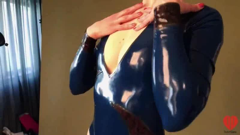Dutch Dame in Latex Bodysuit