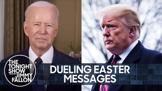 Biden & Trump's Dueling Easter Messages, Putin Named Russia's Hottest Man | The Tonight Show