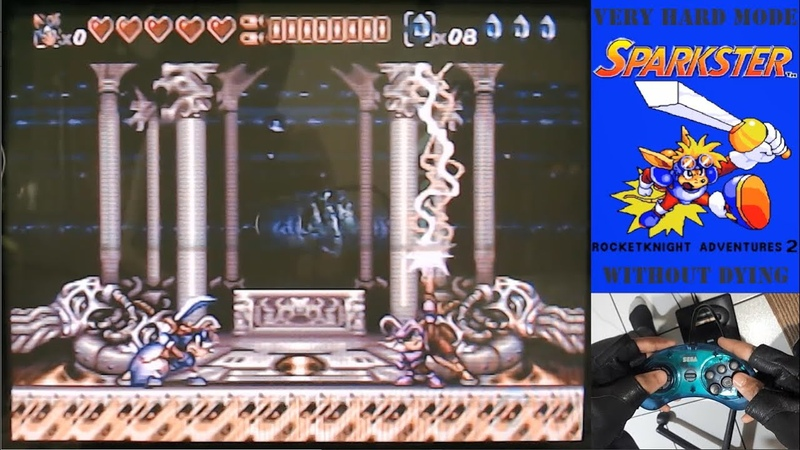 Rocket Knight Adventures 2 Mega Drive Very Hard Mode without dying by dark fpc Brazil